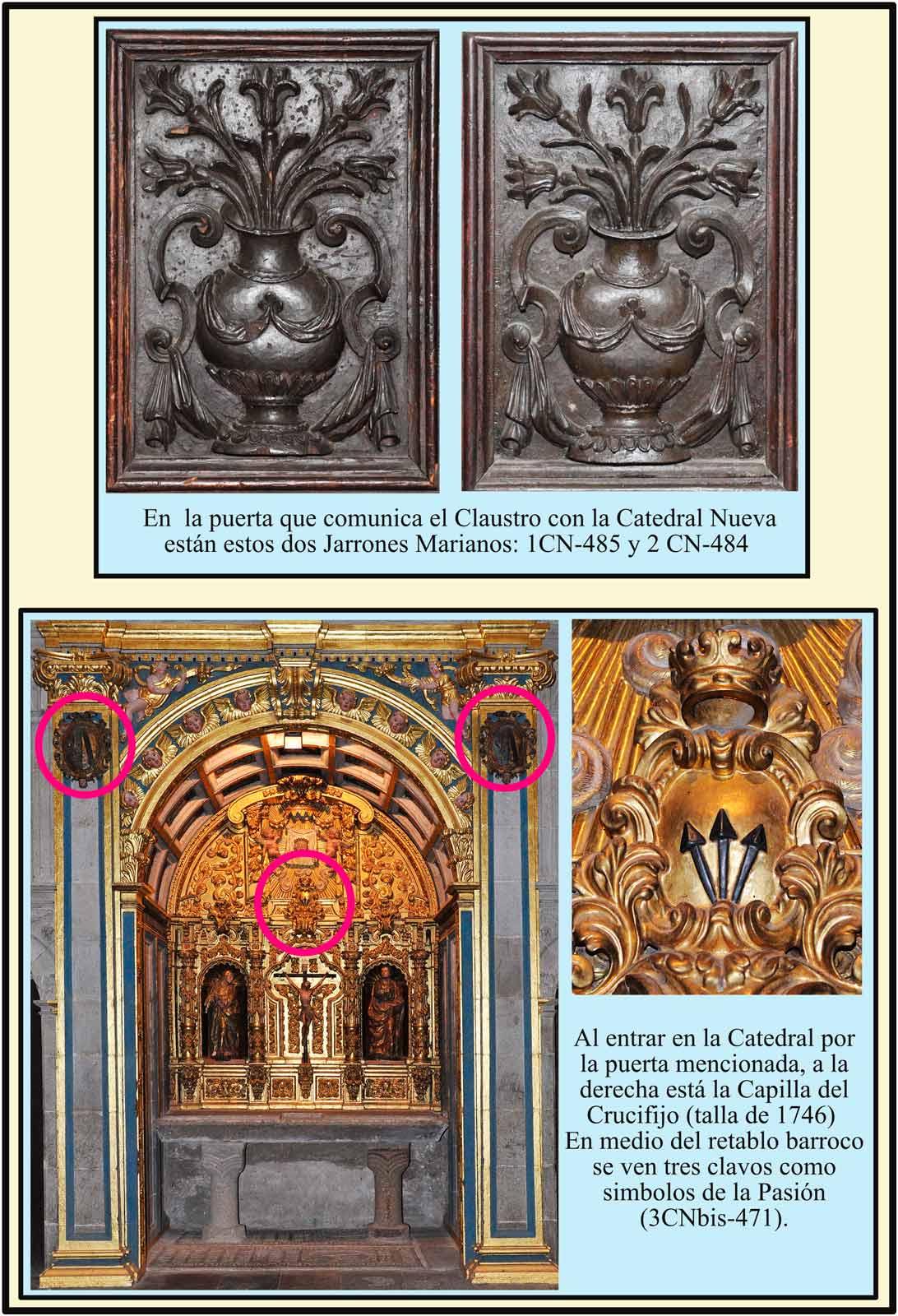 Jarrones de la Puerta de Santa María y Capilla del Crucifijo
