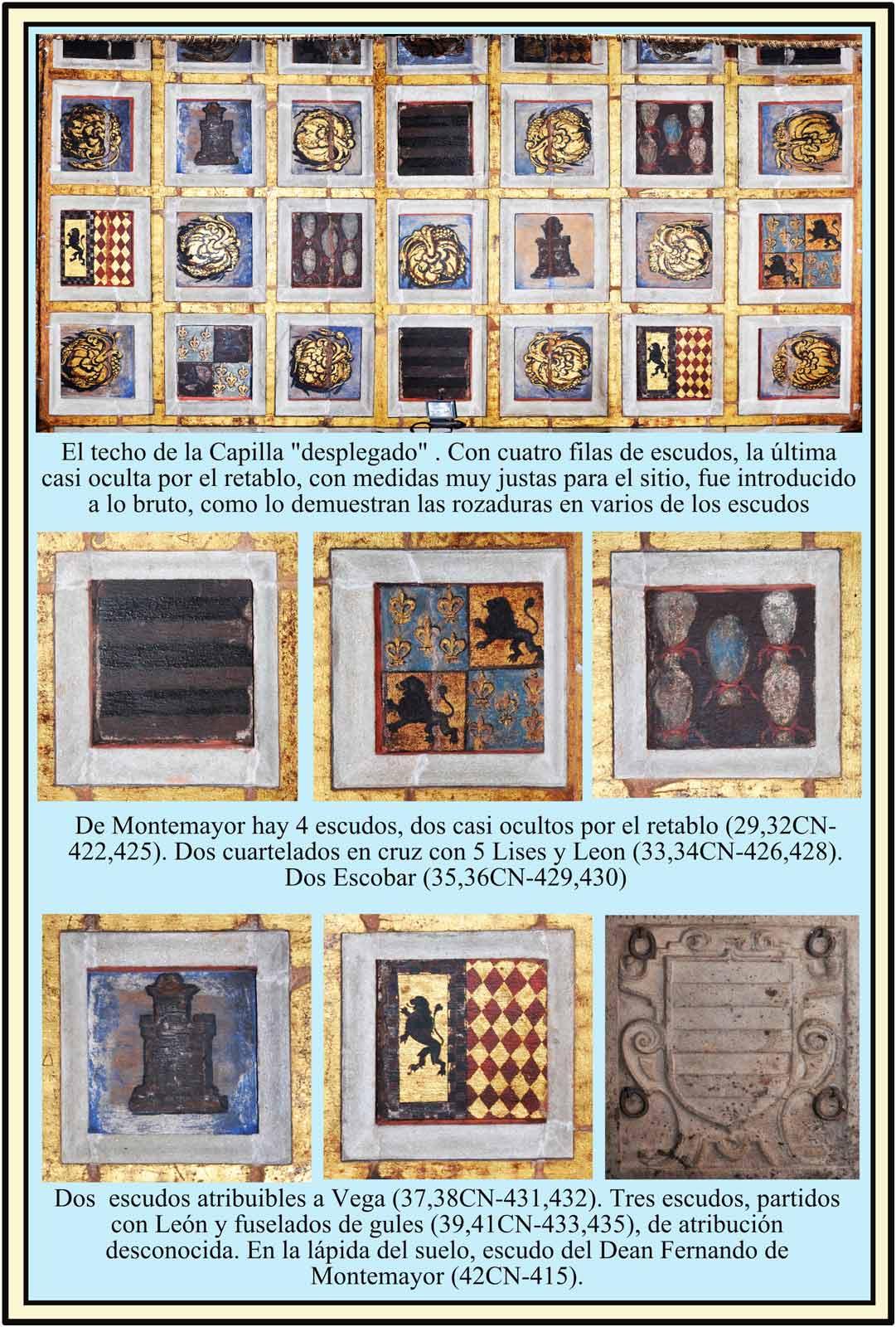 Capilla de La Inmaculada. Escudos Montemayor, Lis y Leon, Escobar