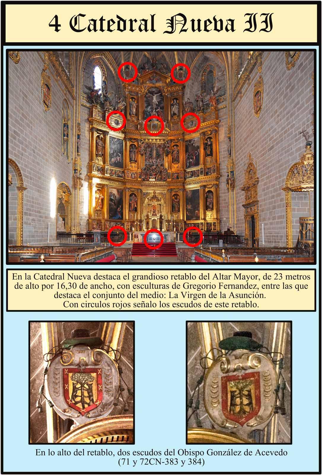 Plasencia Catedral Nueva Dorada Retablo Gregorio Fernandez