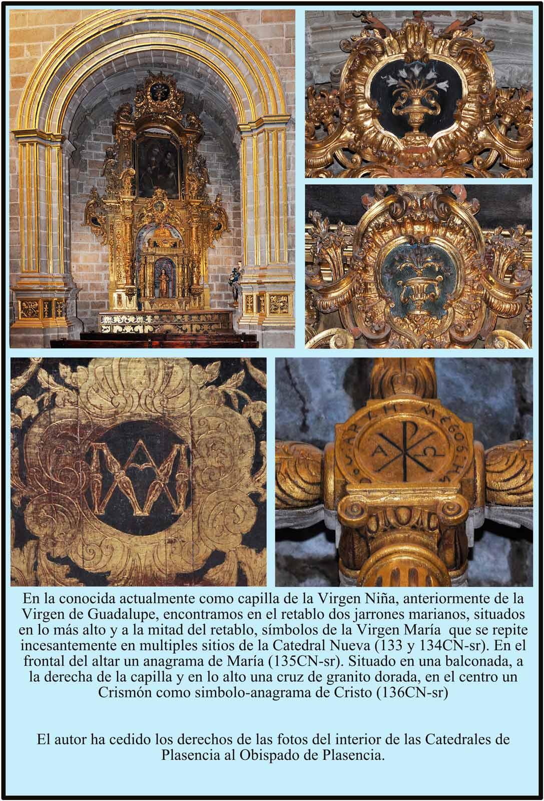 Capilla Virgen Niña Plasencia. Simbolos Marianos