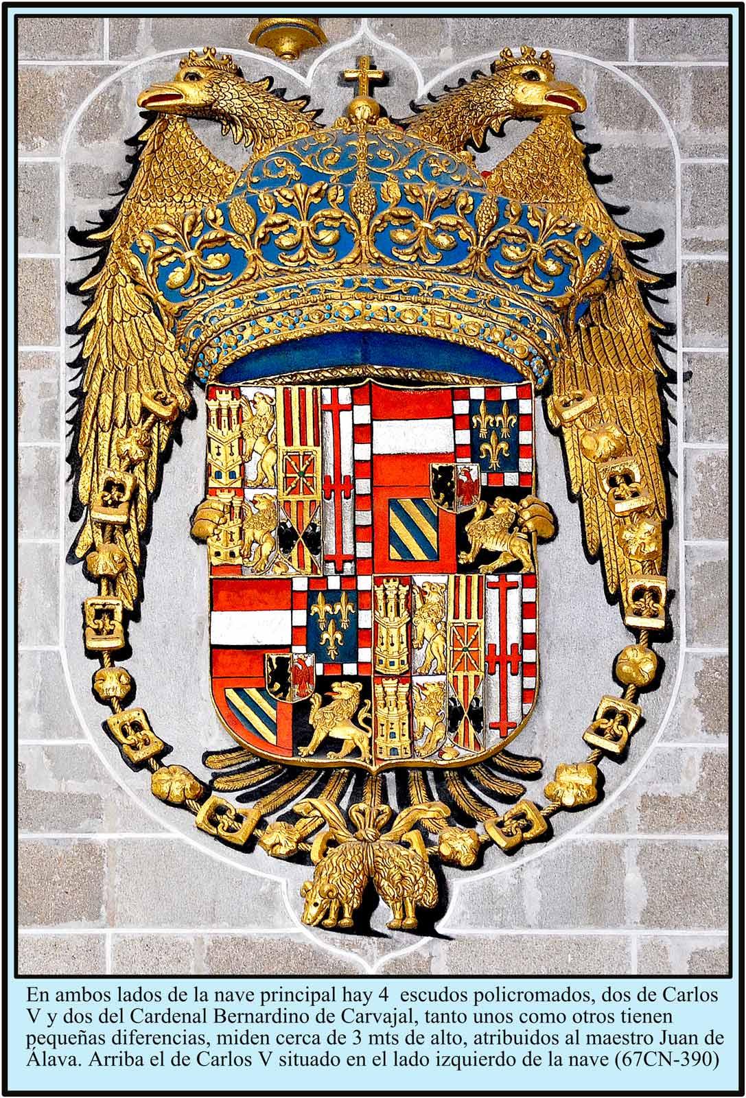 Escudo de Carlos V  en la Catedral Nueva de Plasencia