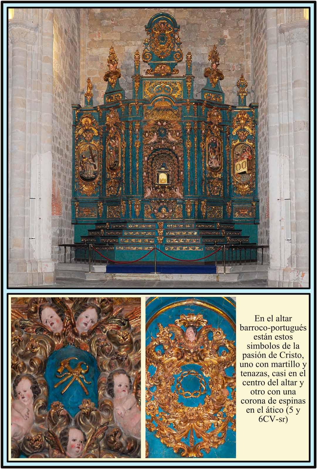 Altar Barroco portugues. Catedral Vieja de Plasencia