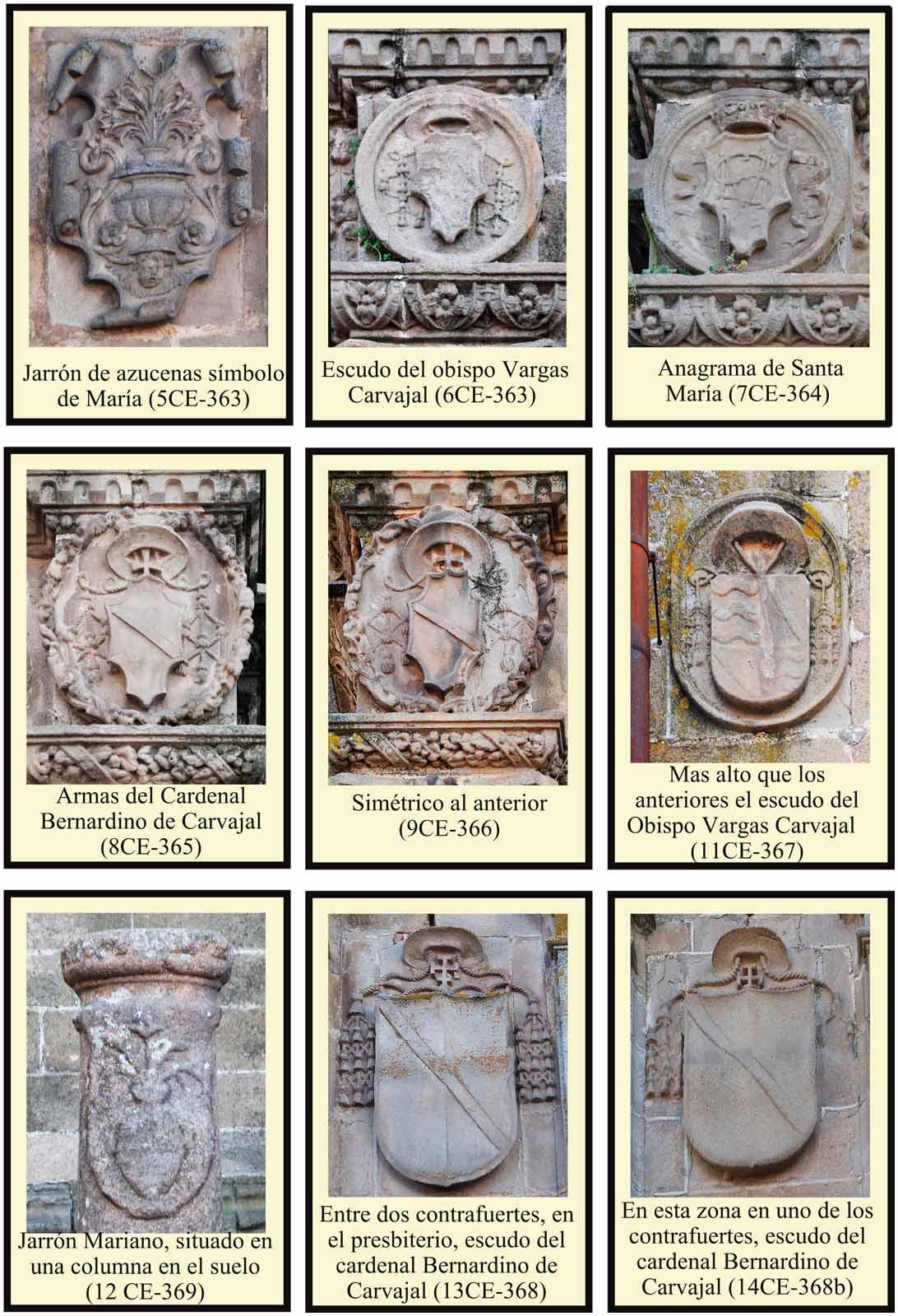 Heraldica Carvajal Catedral Plasencia