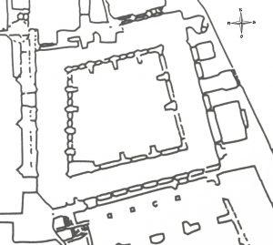 Plano del Claustro de la Catedral de Plasencia