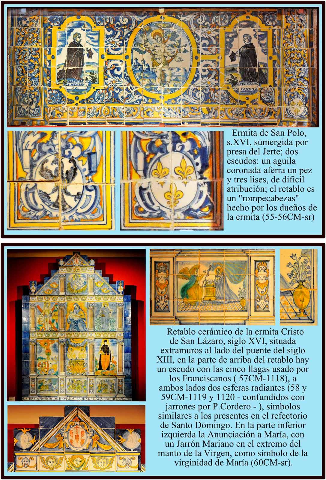 Azulejos de los retablos de San Lazaro y San Polo