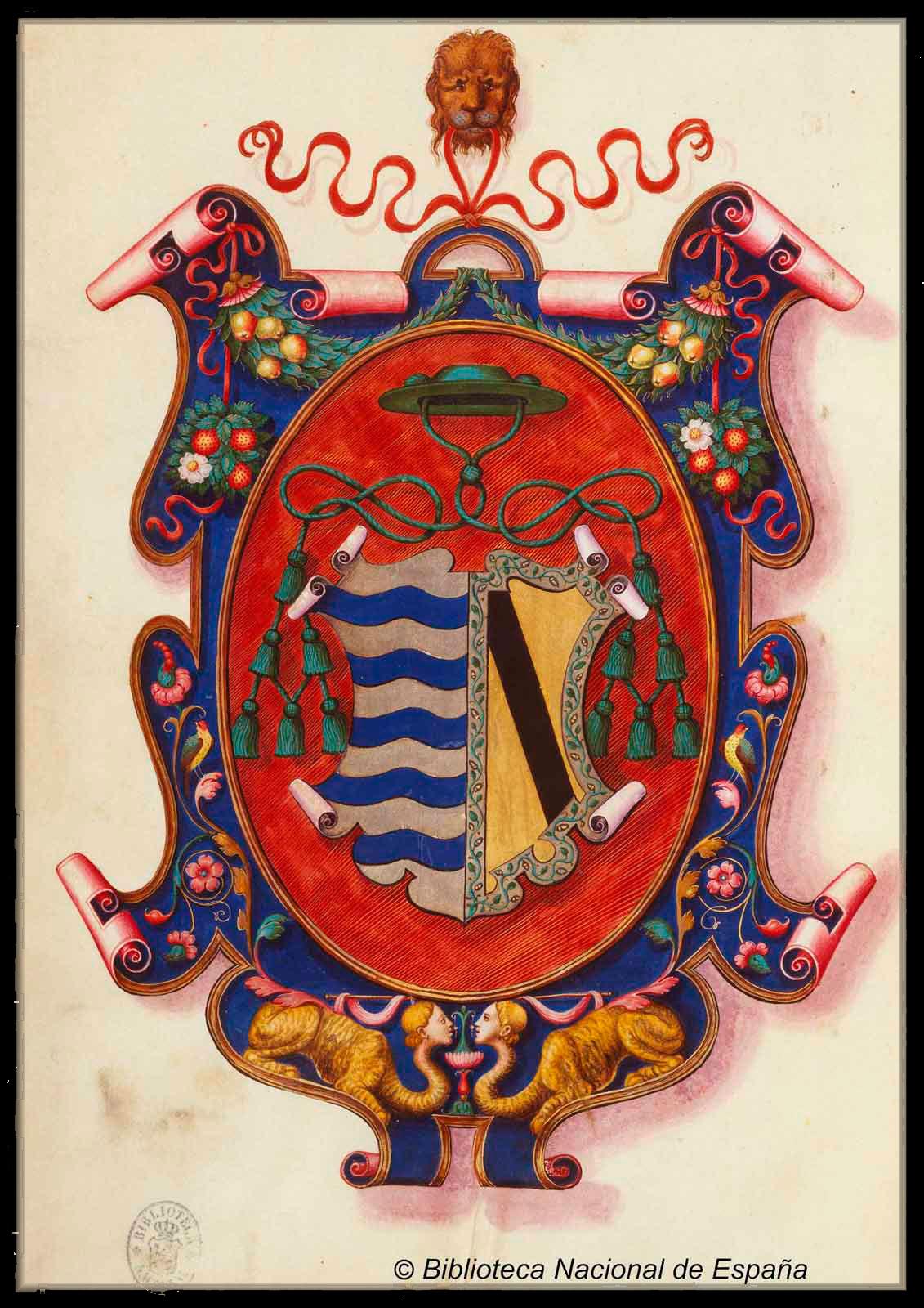 Escudo del Obispo Gutierre de Vargas Carvajal. En la Biblioteca Nacional