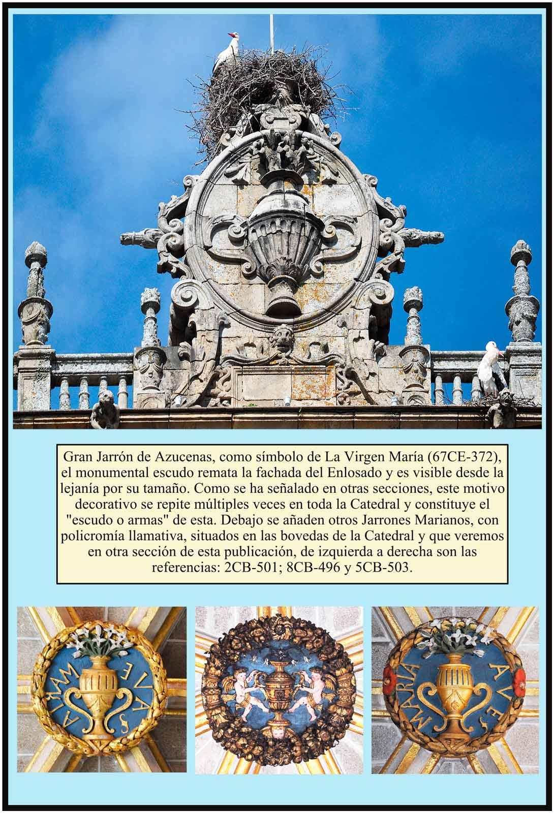 Gran Jarrón de azucenas simbolo mariano. Portada del Enlosado