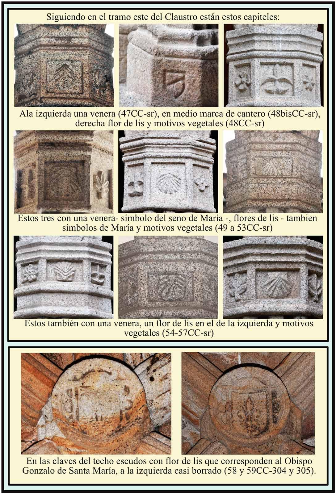 Clasutro Catedral Vieja Escudos de Gonzalo de Santa María Lis
