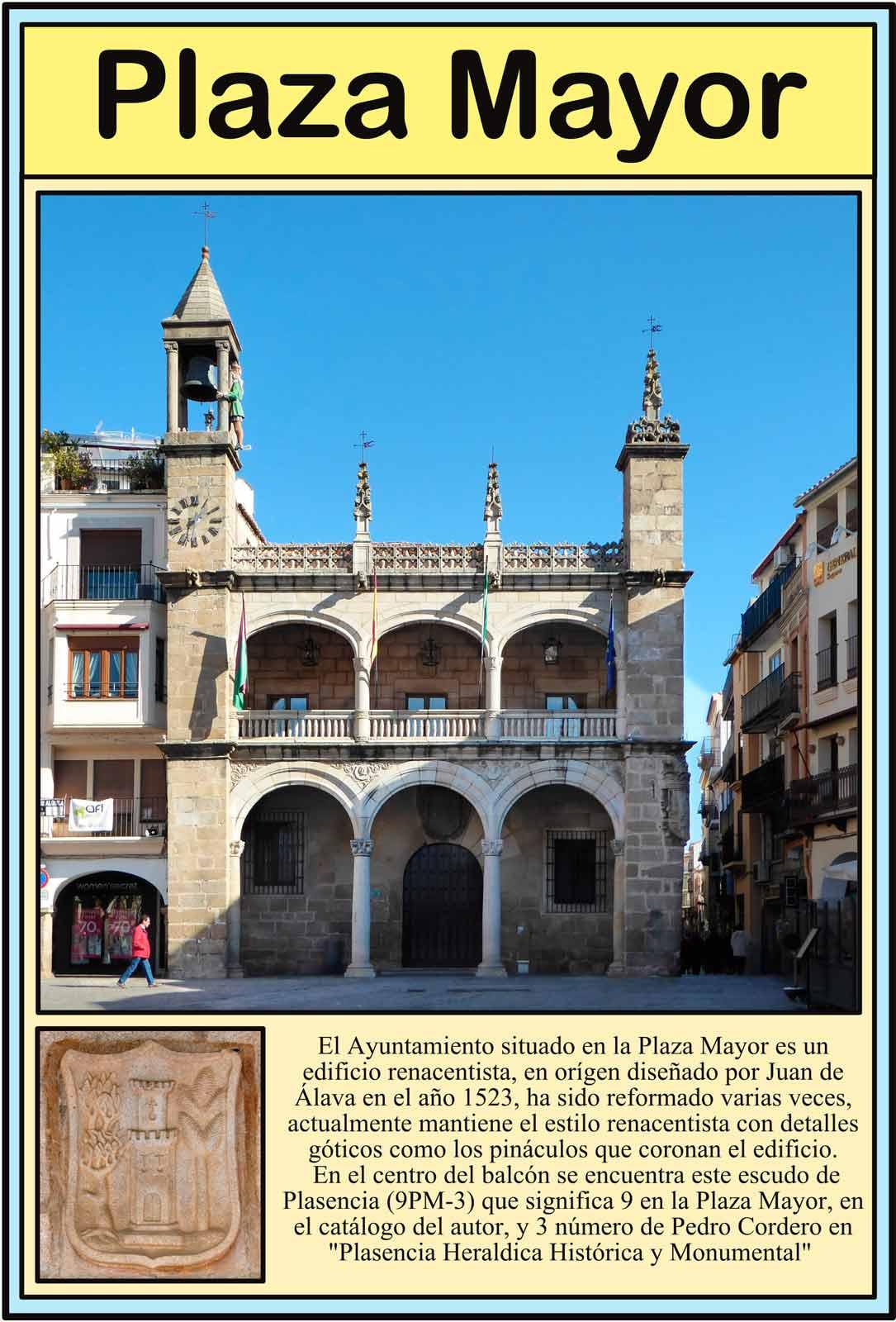Plasencia Ayuntamiento en la Plaza Mayor