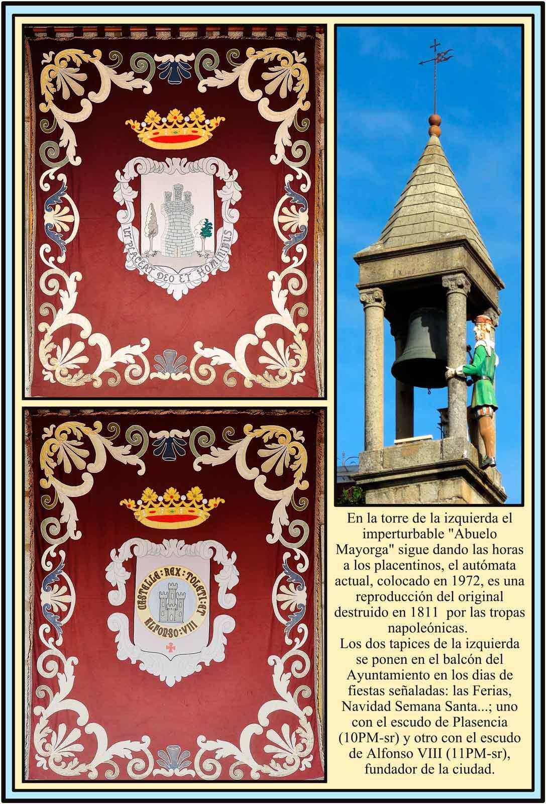 Abuelo Mayorga Tapices con escudos de Plasencia y Alfonso VIII