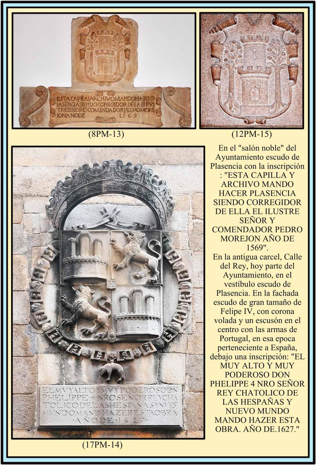 Escudos de Plasencia. Escudo de Felipe IV en la Calle del Rey