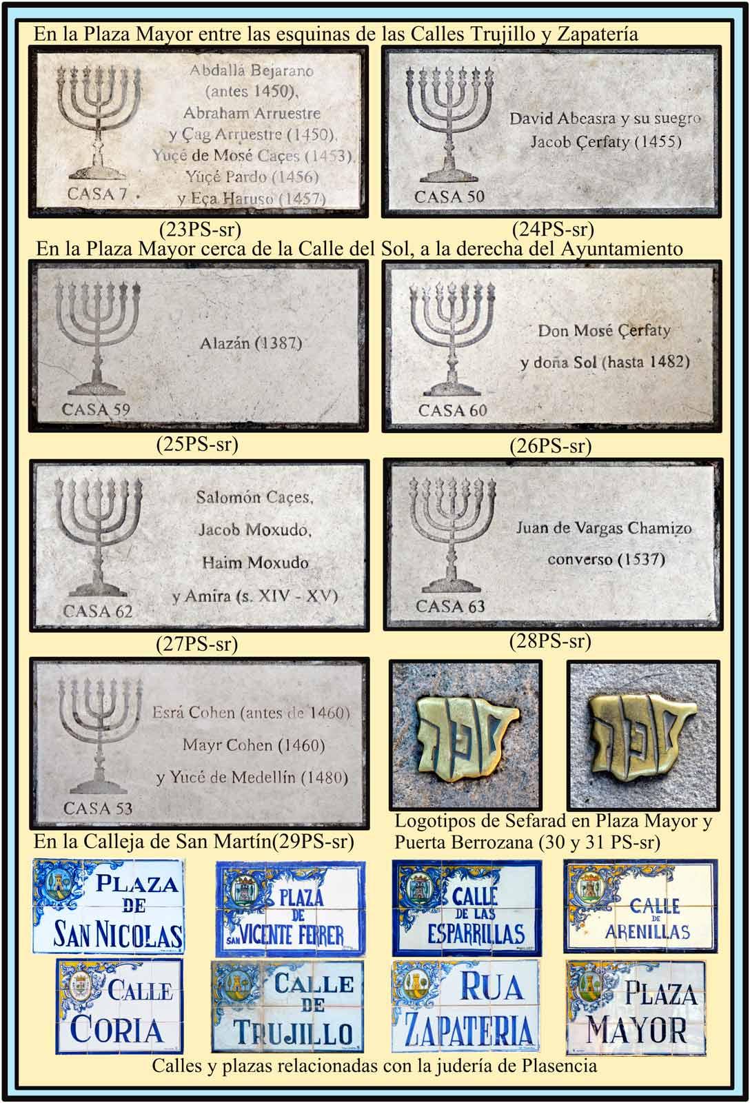 Placas de las casas de los Judios