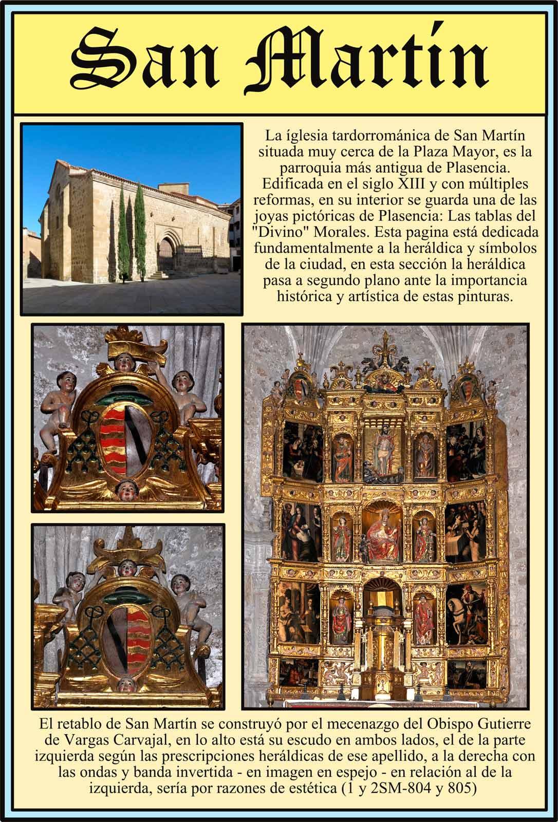 Retablo de San Martín. Escudos del Obispo Gutierre de Vargas Carvajal