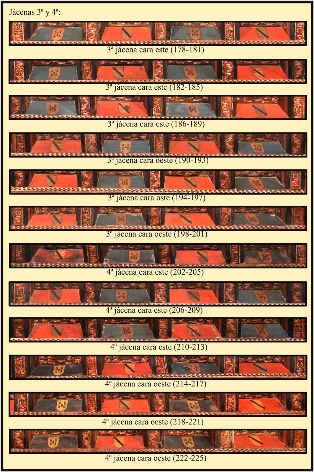 Escudos Carvajal y Camargo en las jacenas de la sala del artesonado. Las Claras Plasencia