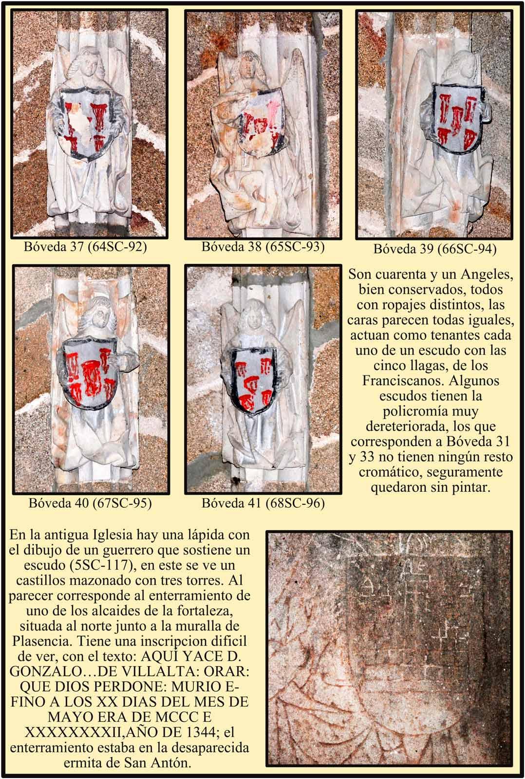 Lapida del enterramiento del alcaide de la fortaleza. Plasencia