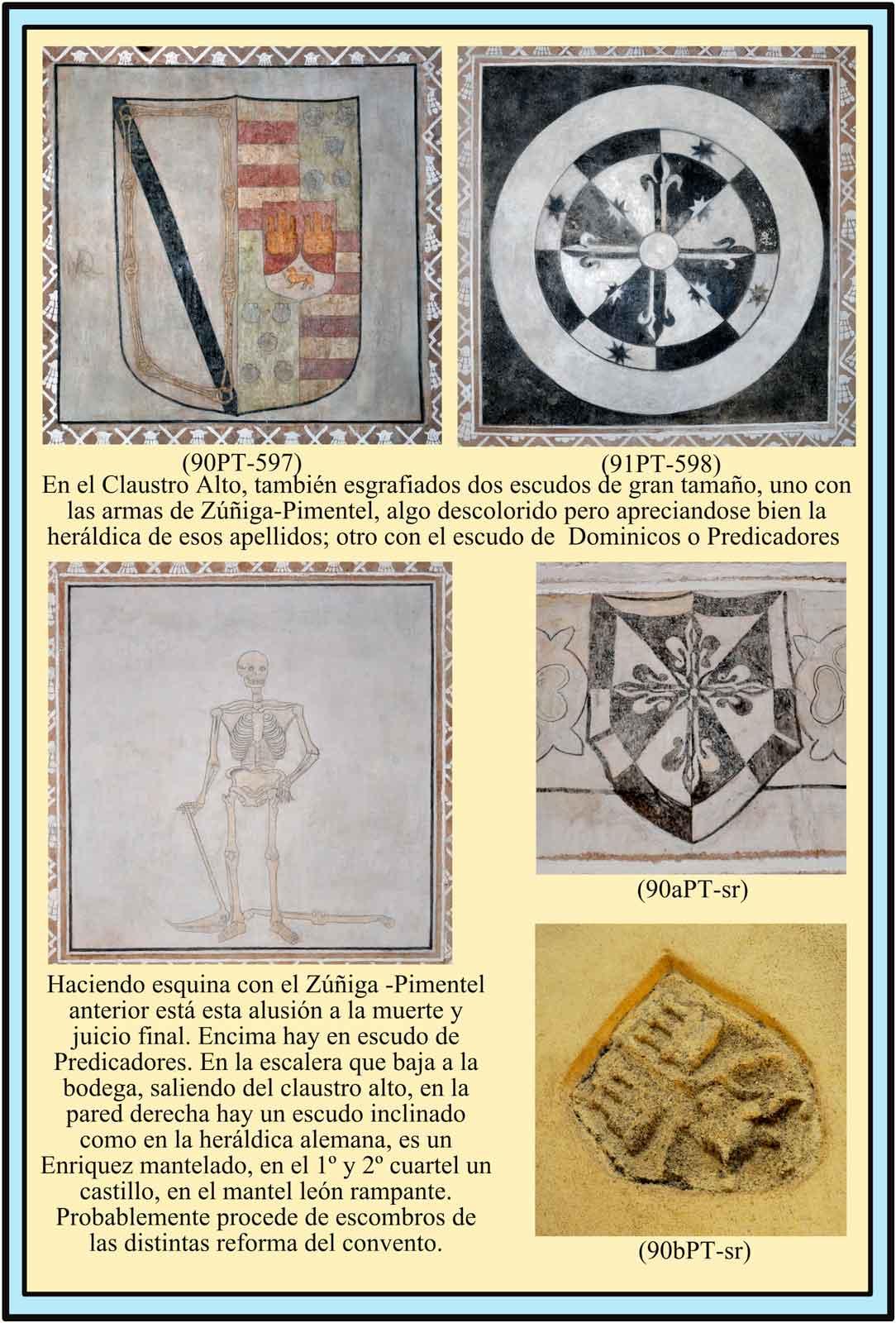 Escudos en el Claustro Alto Pimentel Predicadores Enriquez