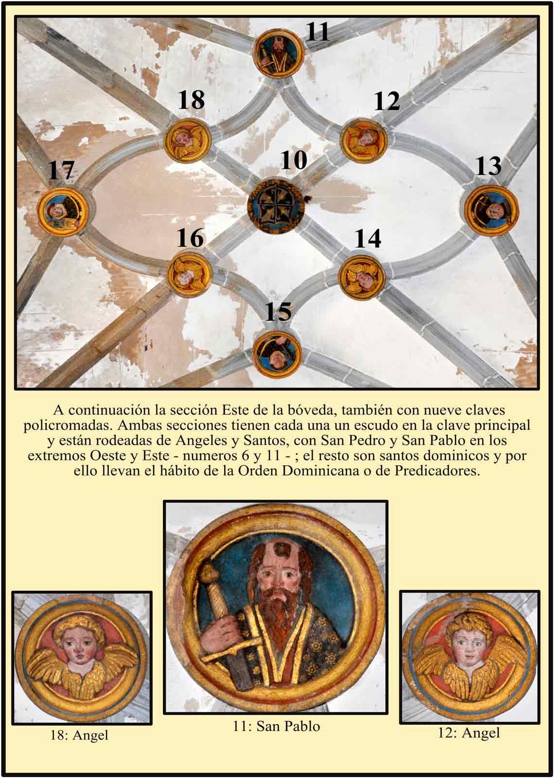 Sacristia boveda San Pablo Escudo de Predicadores y otros santos dominicos