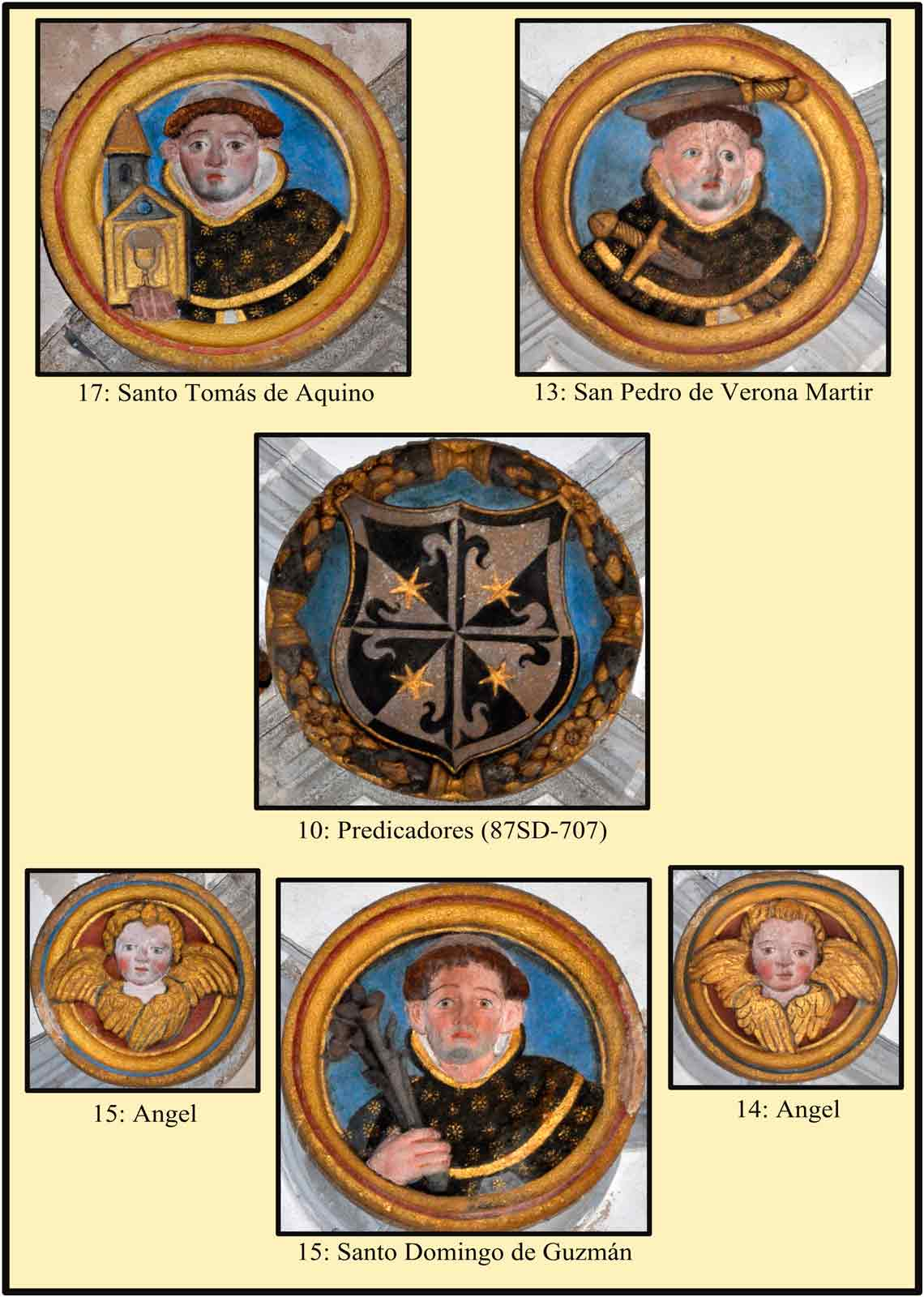 Escudo de Predicadores Santo Domingo de Guzman Tomas de Aquino
