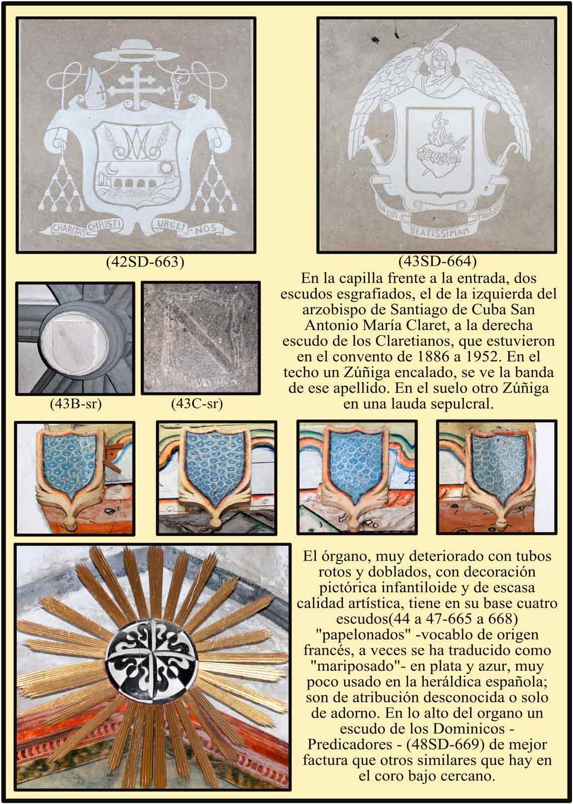 escudos de San Antonio Maria Claret Organo