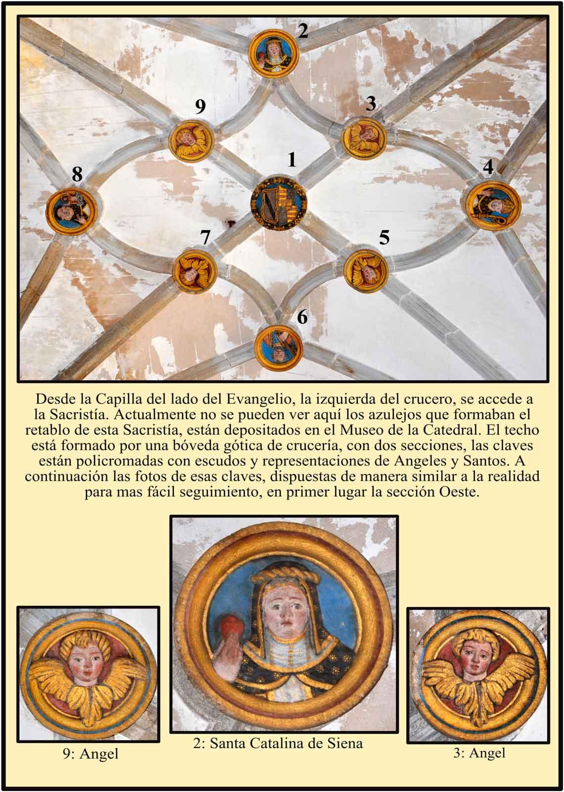 Boveda de la Sacristia con escudos policromados