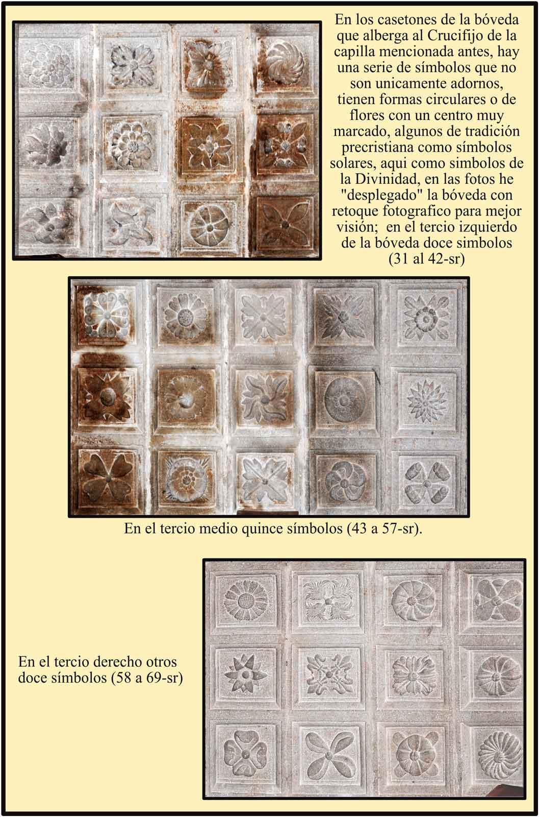 Simbolos Solares y Flores que representan a la Divinidad