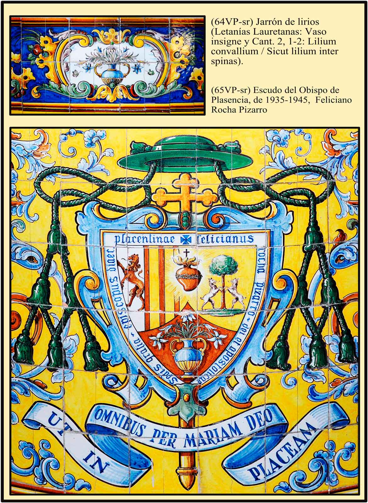 Heraldica eclesiastica y mariana. Escudo del obispo Rocha