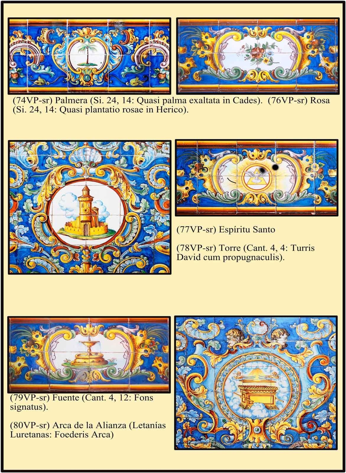 Torre de David, arca de la Alizanca como simbolos de María Virgen
