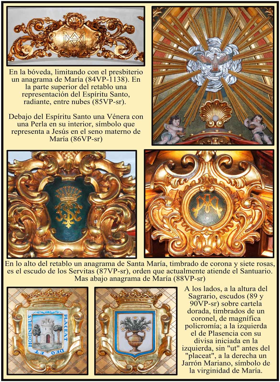 Heraldica religiosa y escudo de Plasencia en el Retablo de la Virgen del Puerto