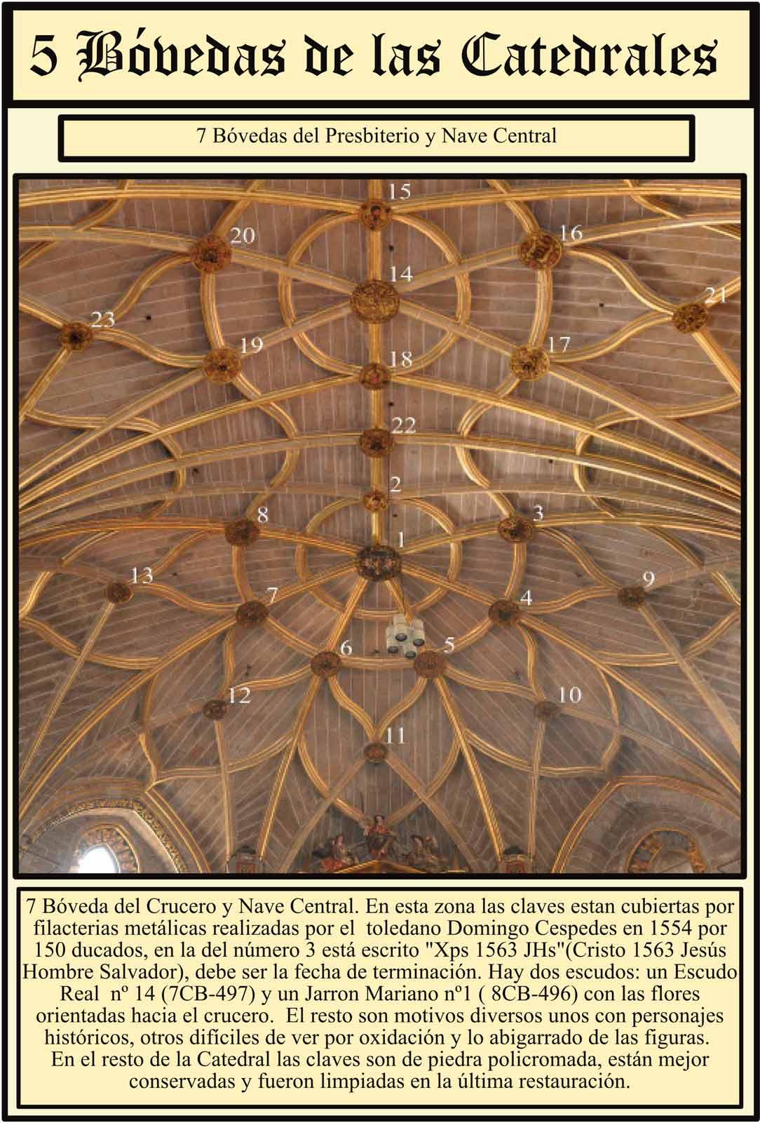 Filacterias metalicas en el presbiterio