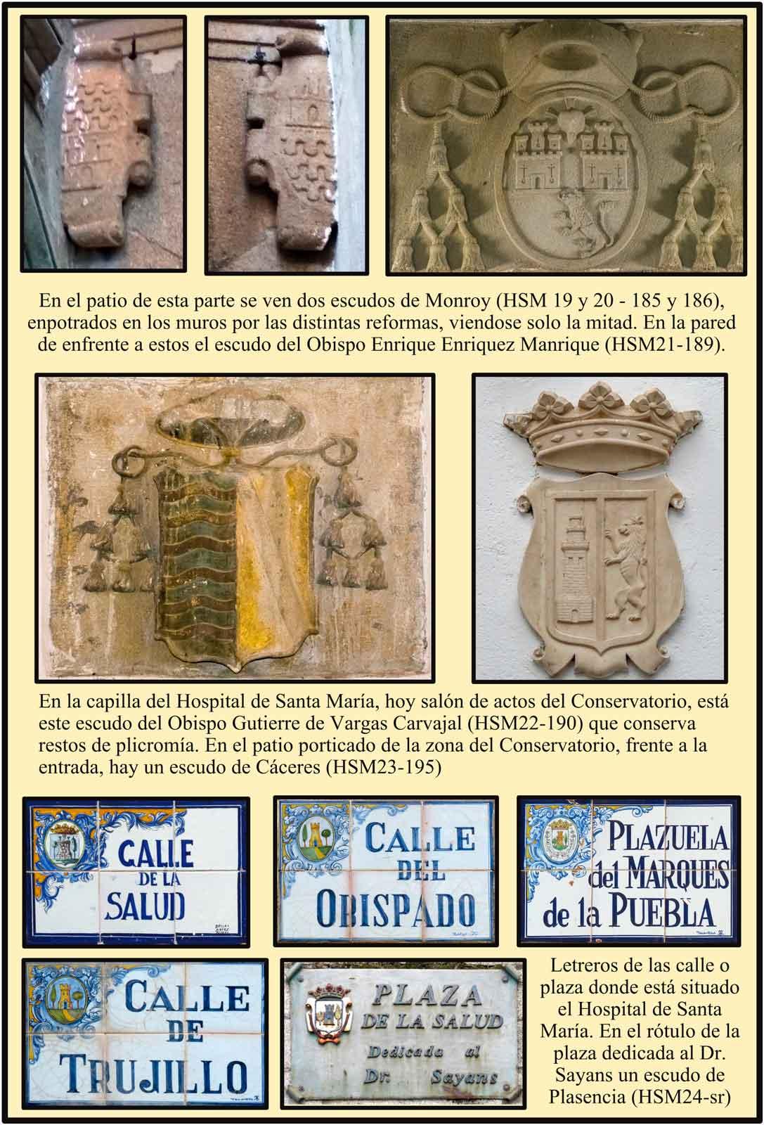 Patio del Hospital con el escudo del obispo Enrique Enriquez Manrique