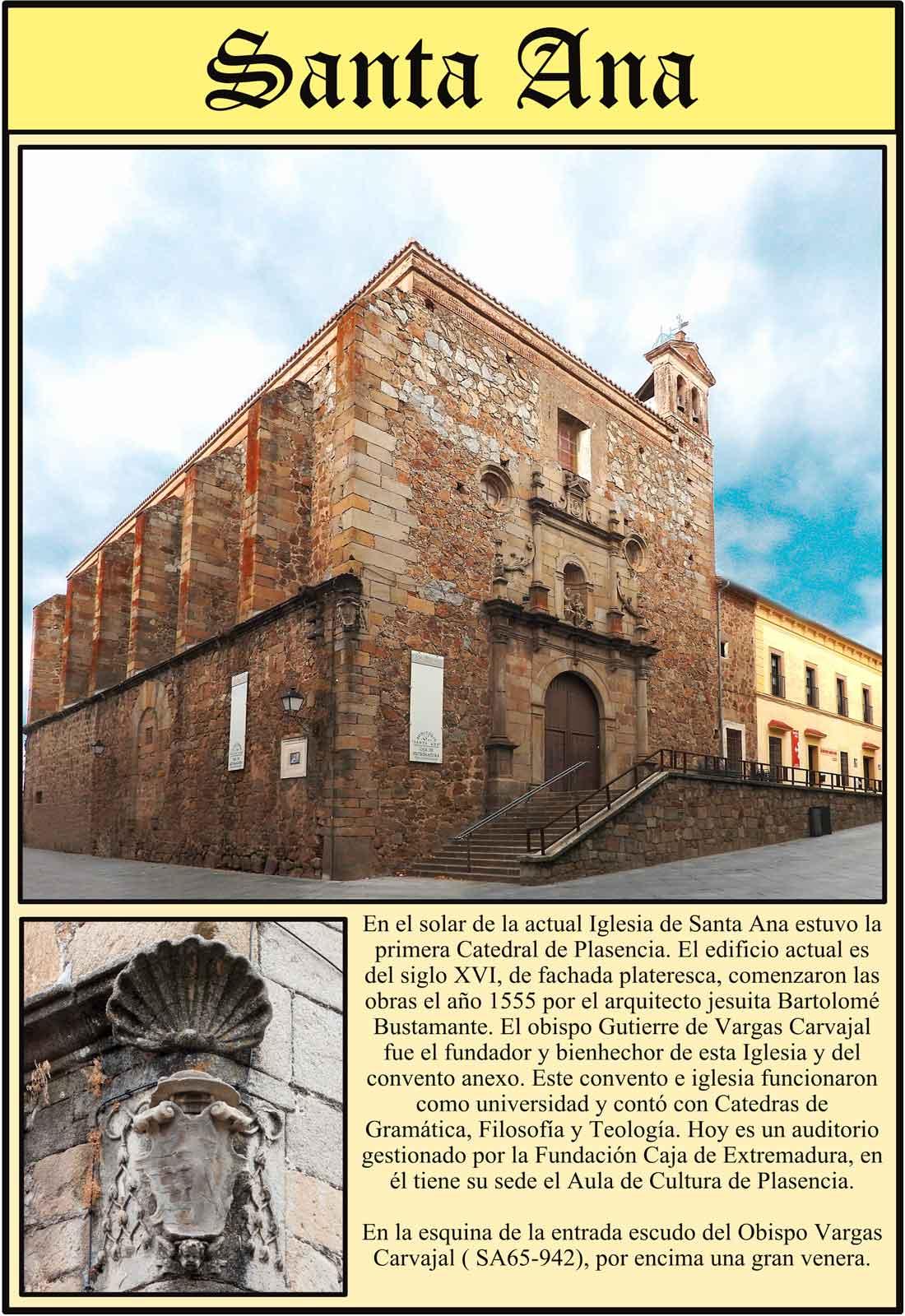 Plasencia Iglesia de Santa Ana Escudo del obispo Gutierre de Vargas Carvajal