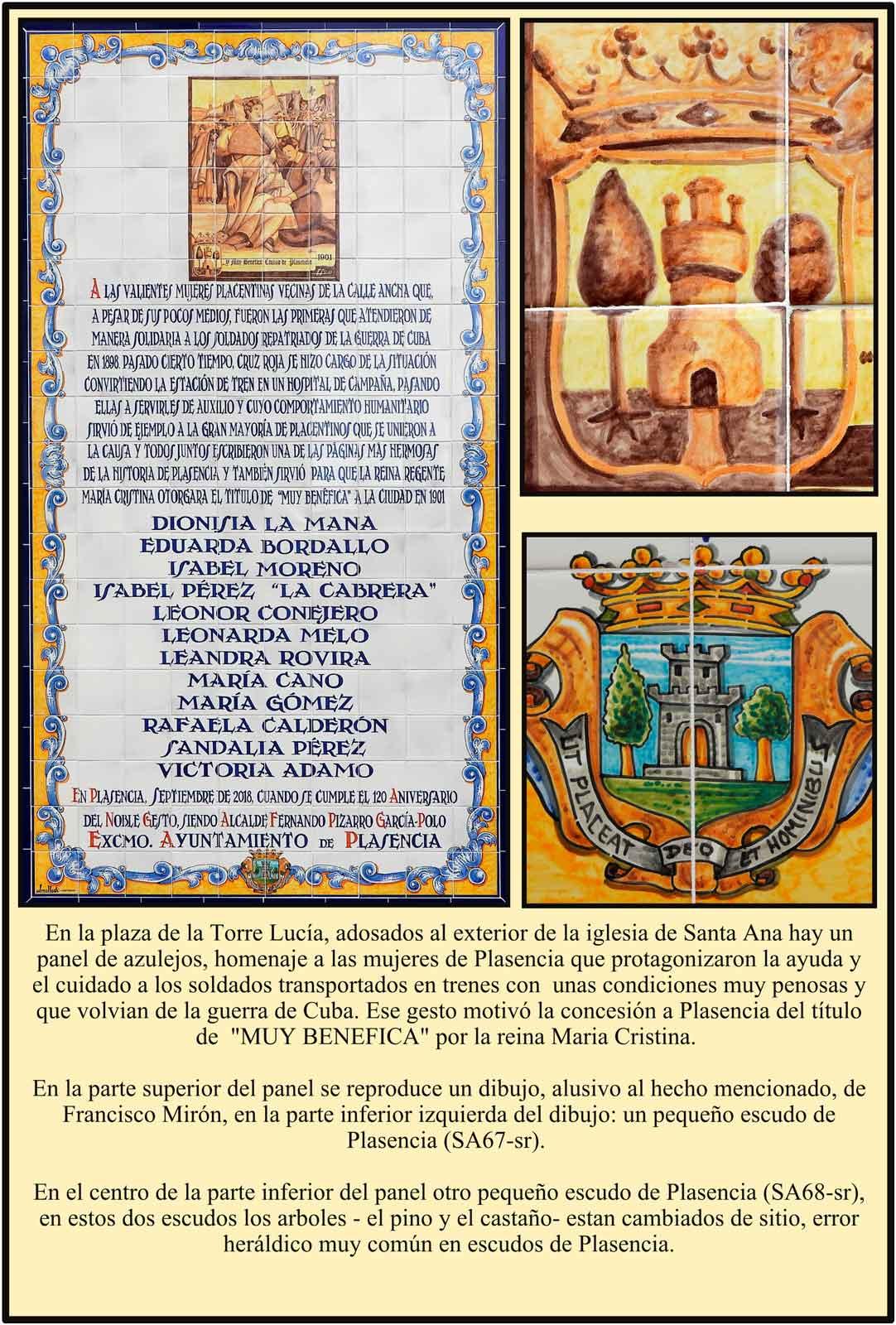 Plasencia con el titulo Muy Benefica en el convento de los Jesuitas