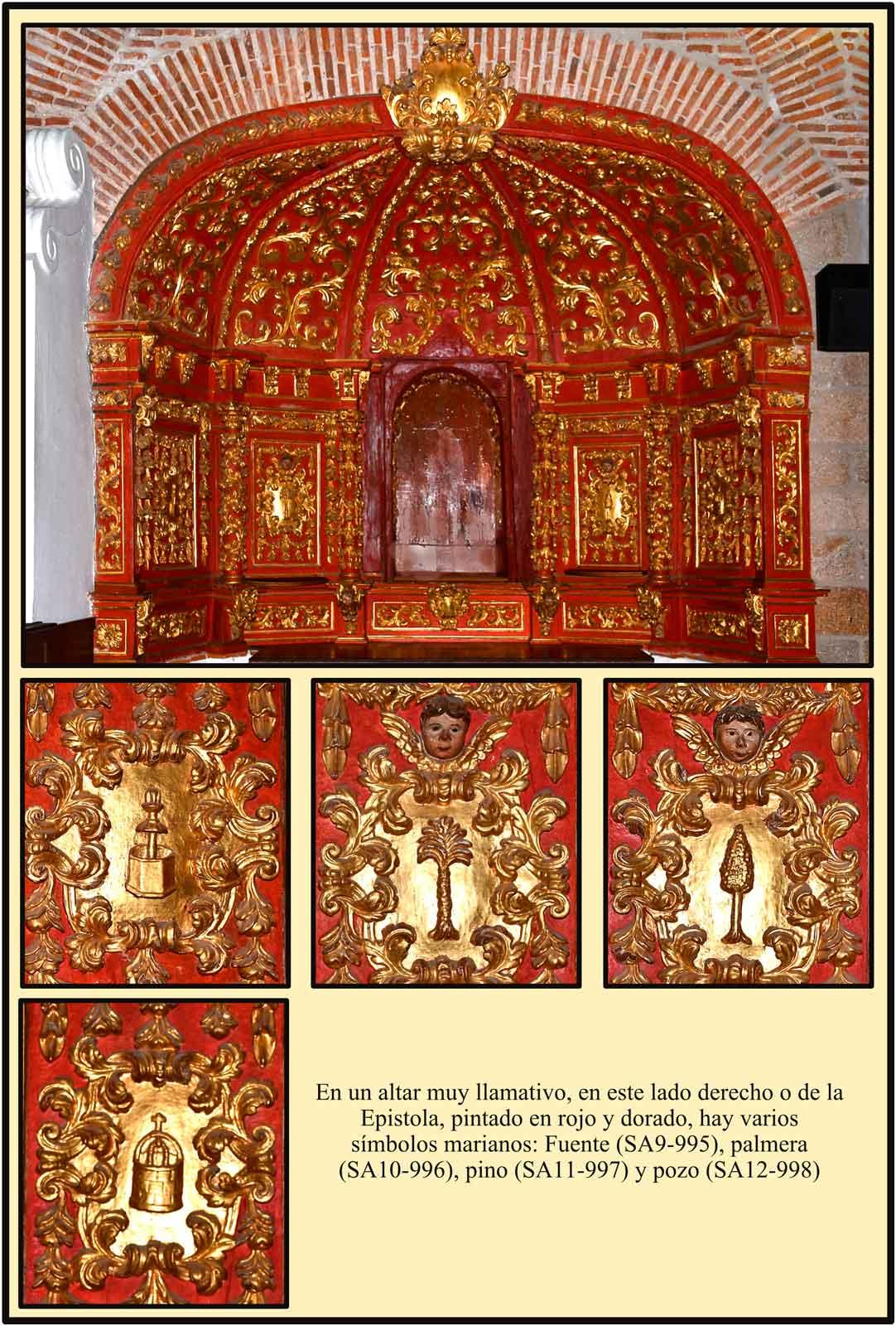 Plasencia Santa Ana Simbolos marianos en una capilla lateral del convento de los Jesuitas