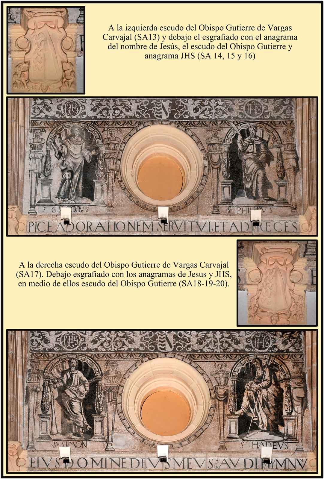 Santa Ana Anagramas de JHS y escudos del obispo Gutierre de Vargas Carvajal