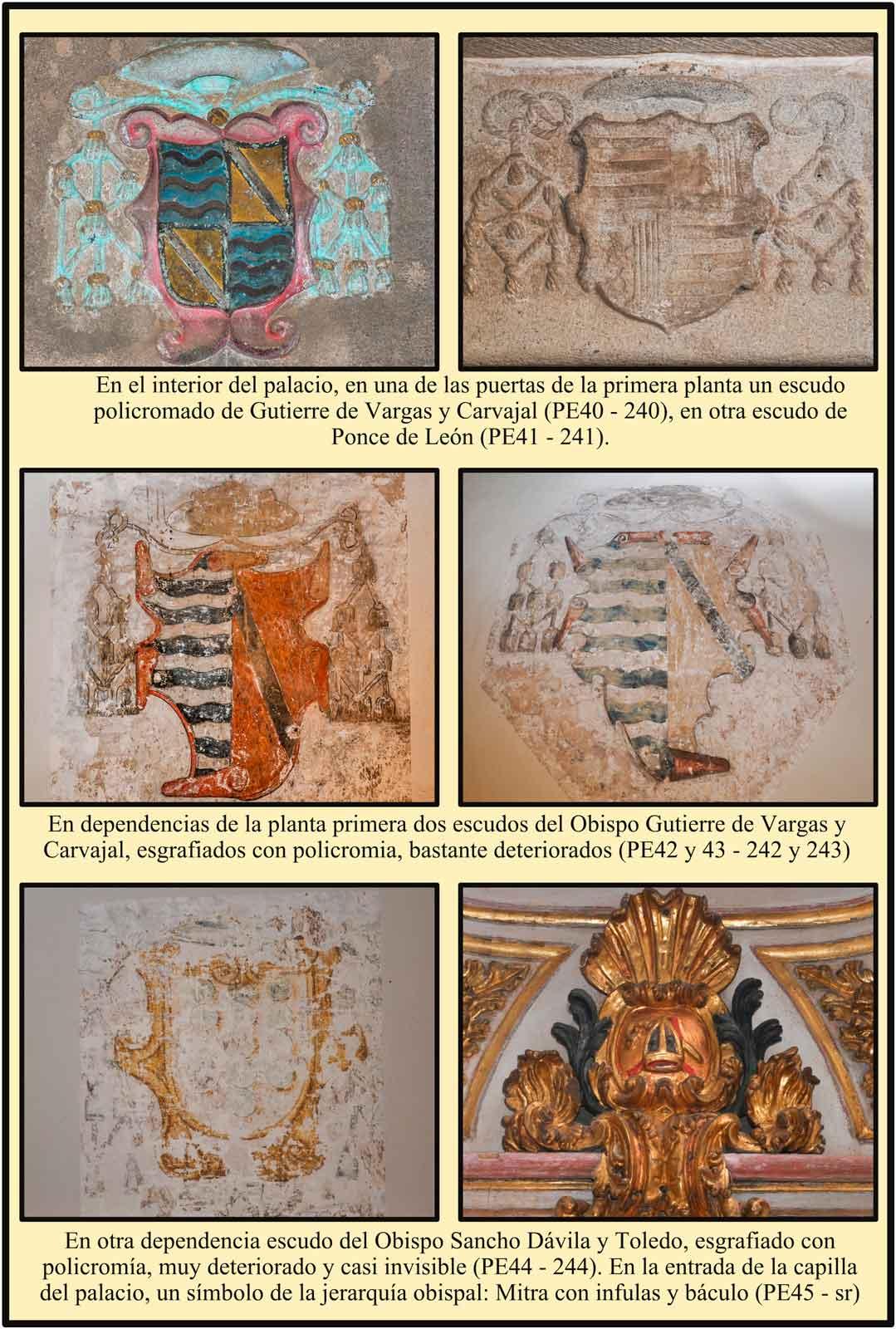 Plasencia Caceres Escudos esgrafiados interior palacio episcopal