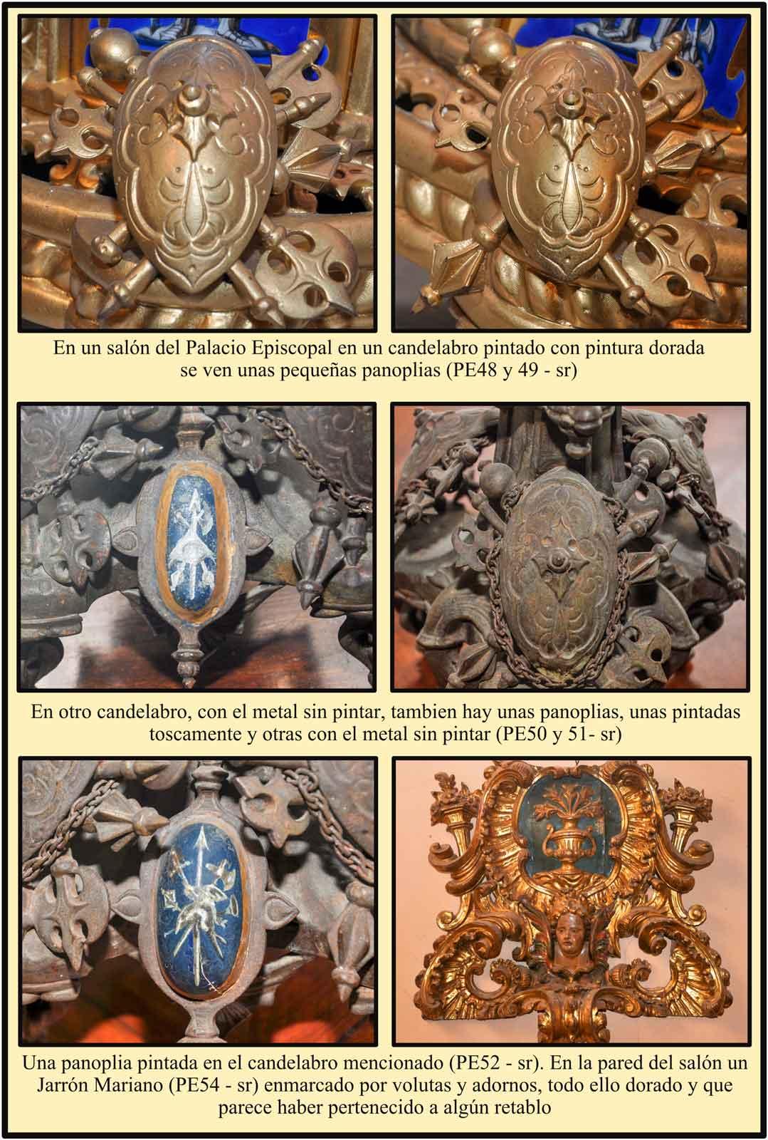 Plasencia Palacio Episcopal Candelabros panoplia jarron mariano salon