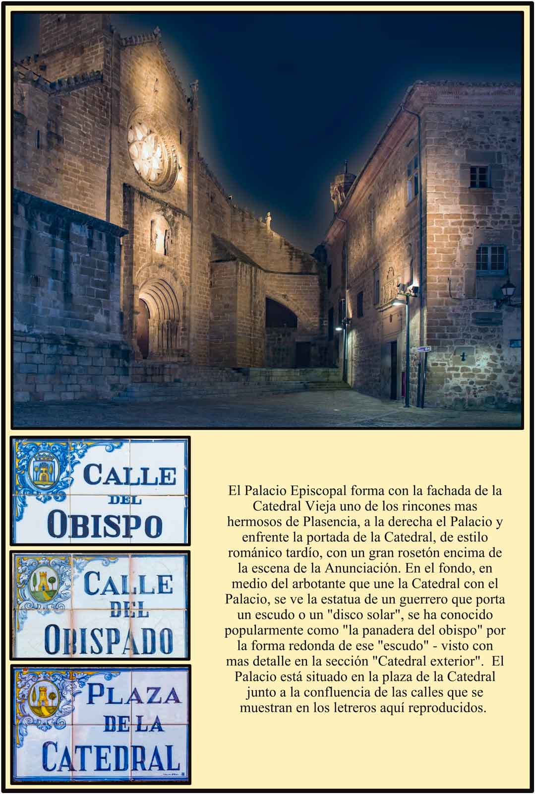 Plasencia Fachada palacio episcopal Iluminacion