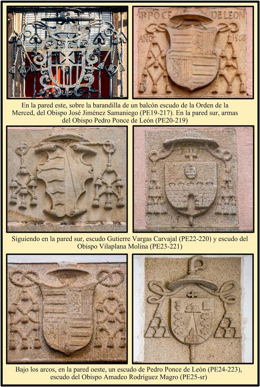 Escudos de la Merced Ponce de Leon Vargas Carvajal Amadeo Vilaplana