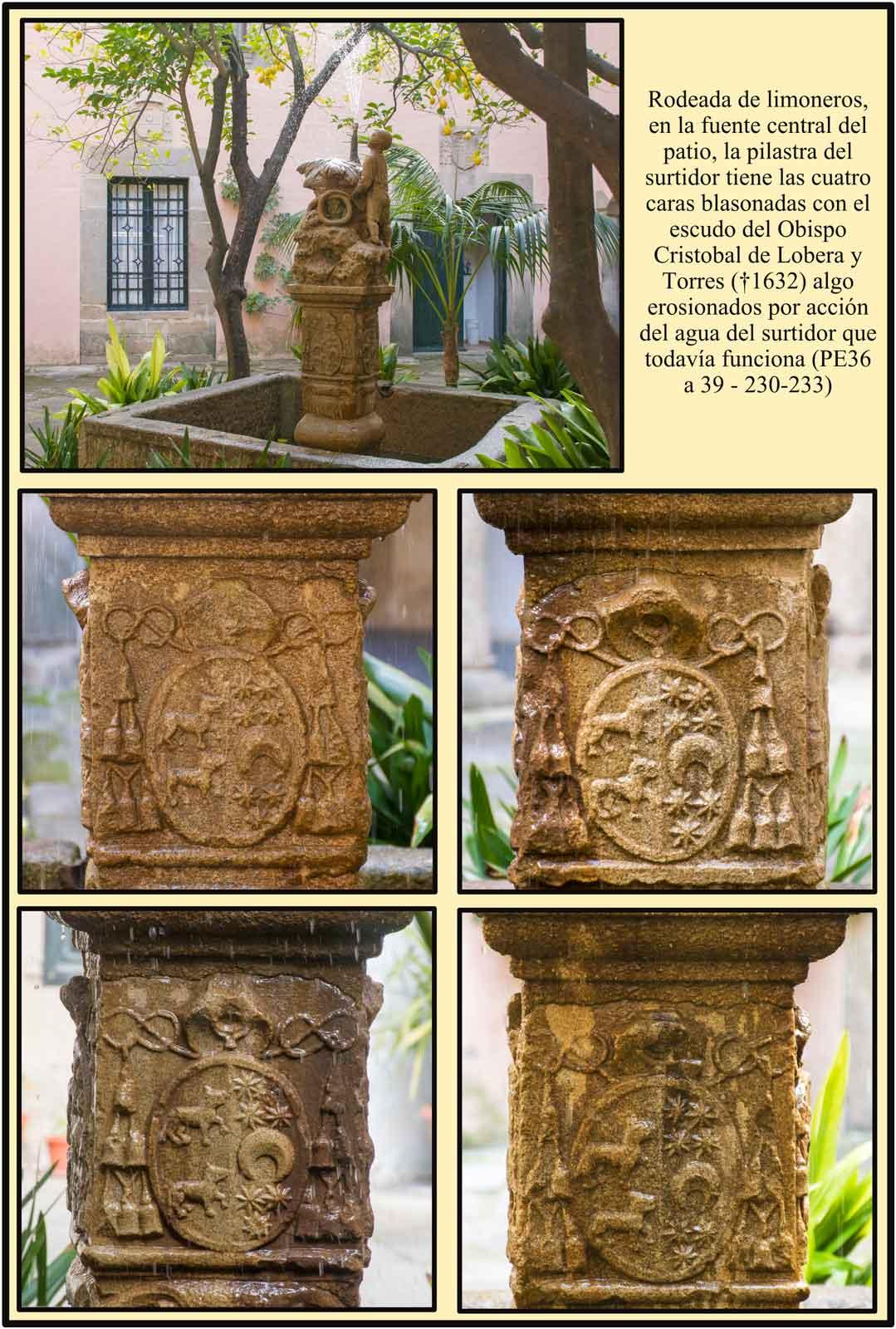 Escudos del Obispo Lobera Fuente Palacio Plasencia Caceres
