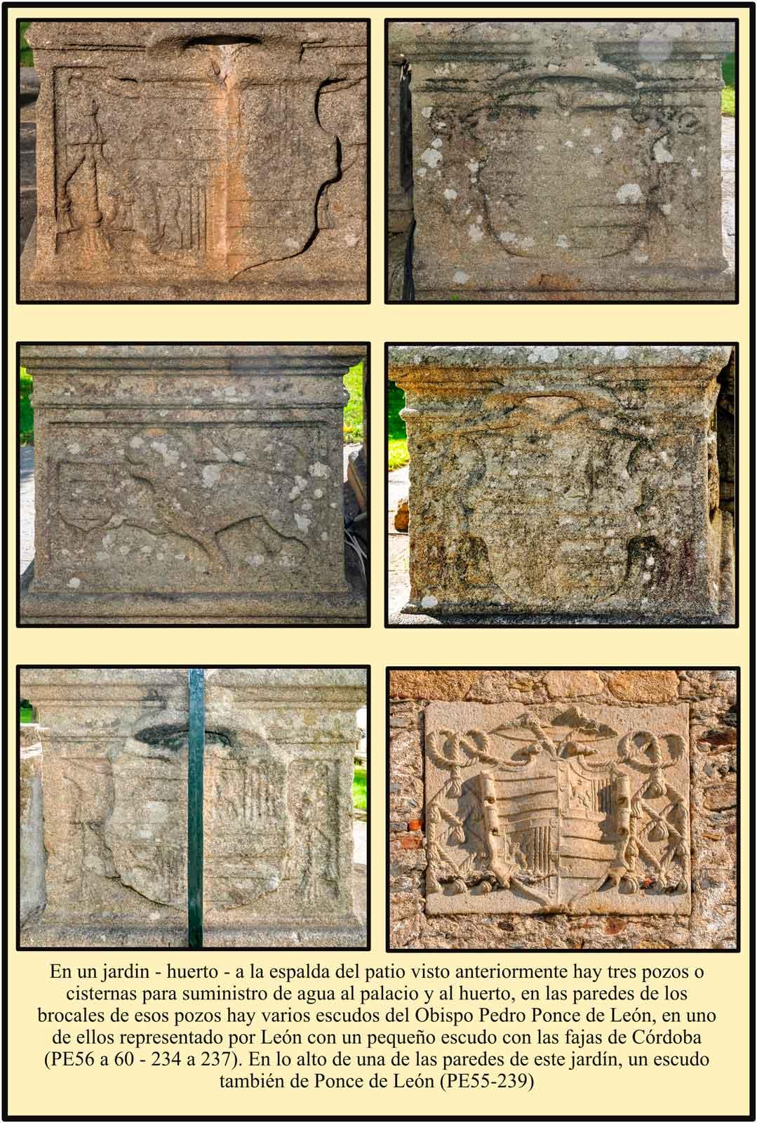 Ponce de Leon  Cisternas Pozos del jardin escudos