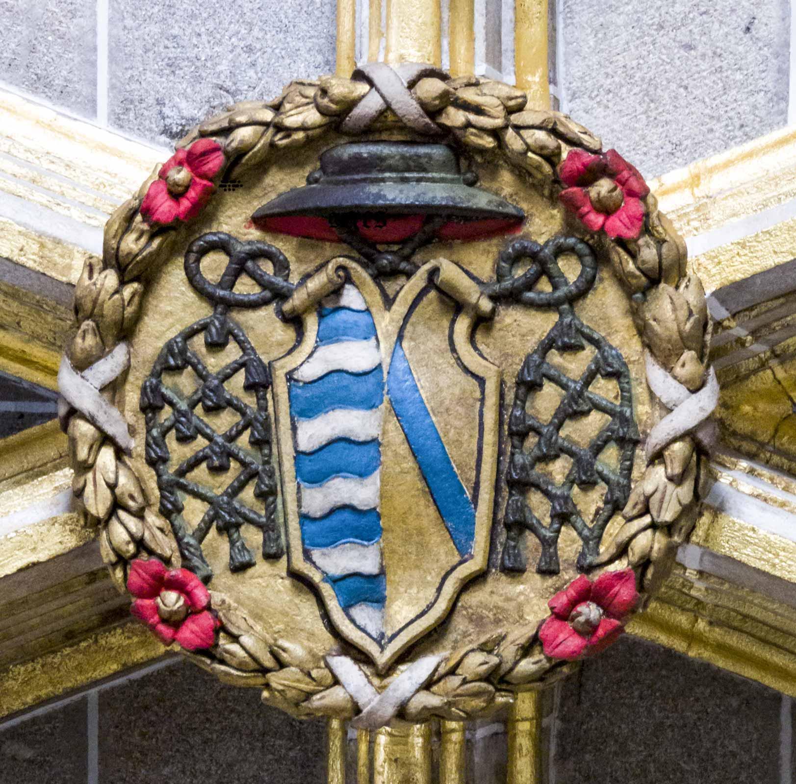 Boveda escudo de Gutierre de Vargas Carvajal