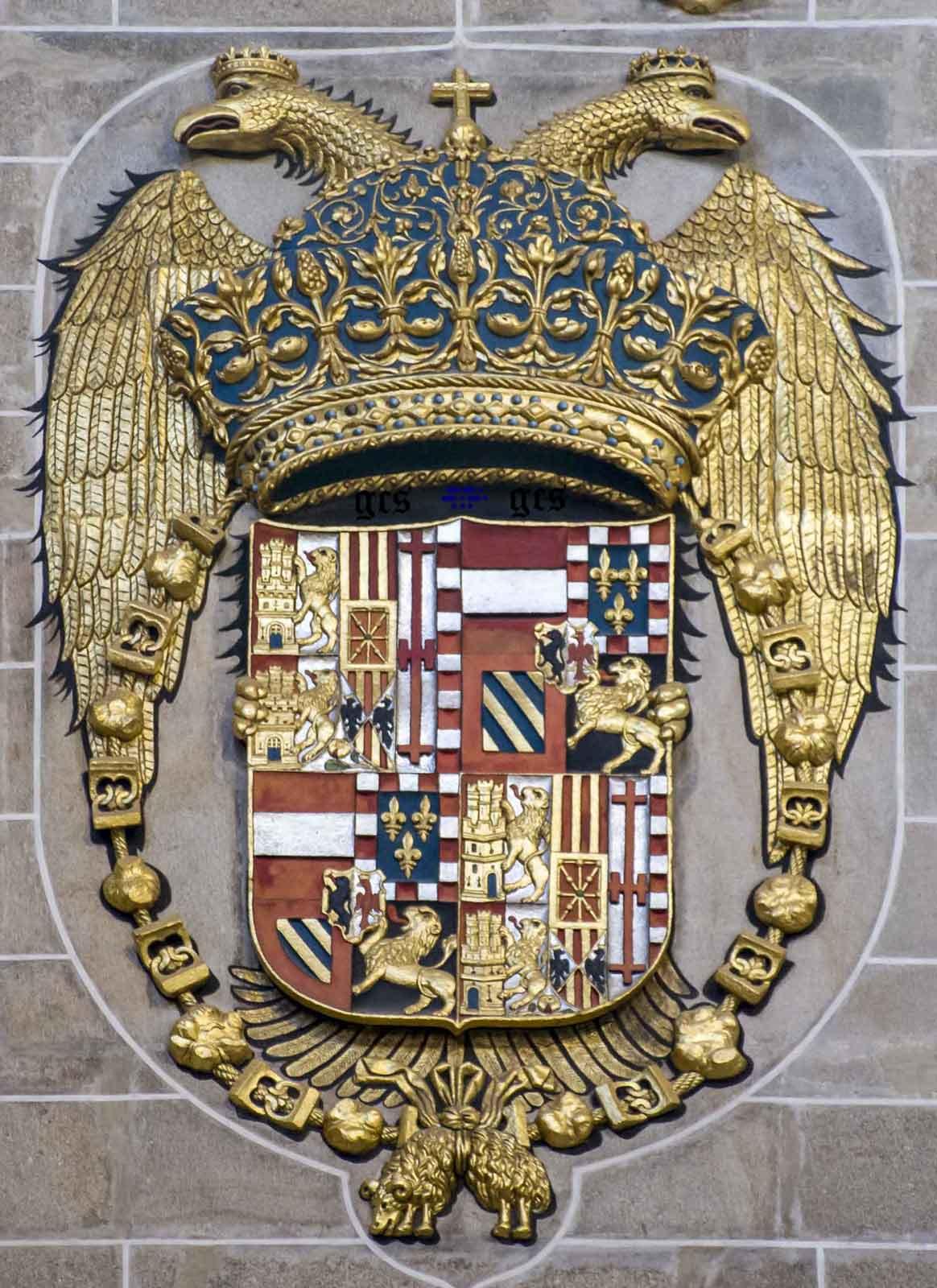 Escudo del Emperador Carlos V en el lado de la Epistola Nave principal de la Catedrla de Plasencia