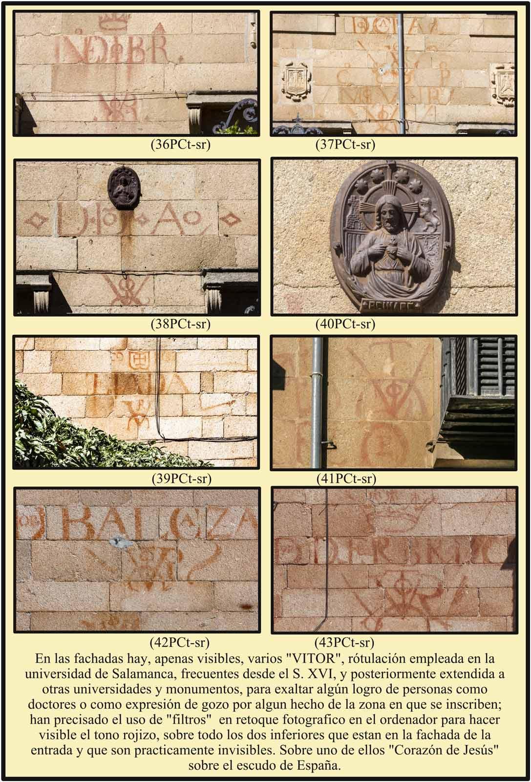 Varios Vitor similares a los de la Universidad de Salamanca en la Casa del Dean