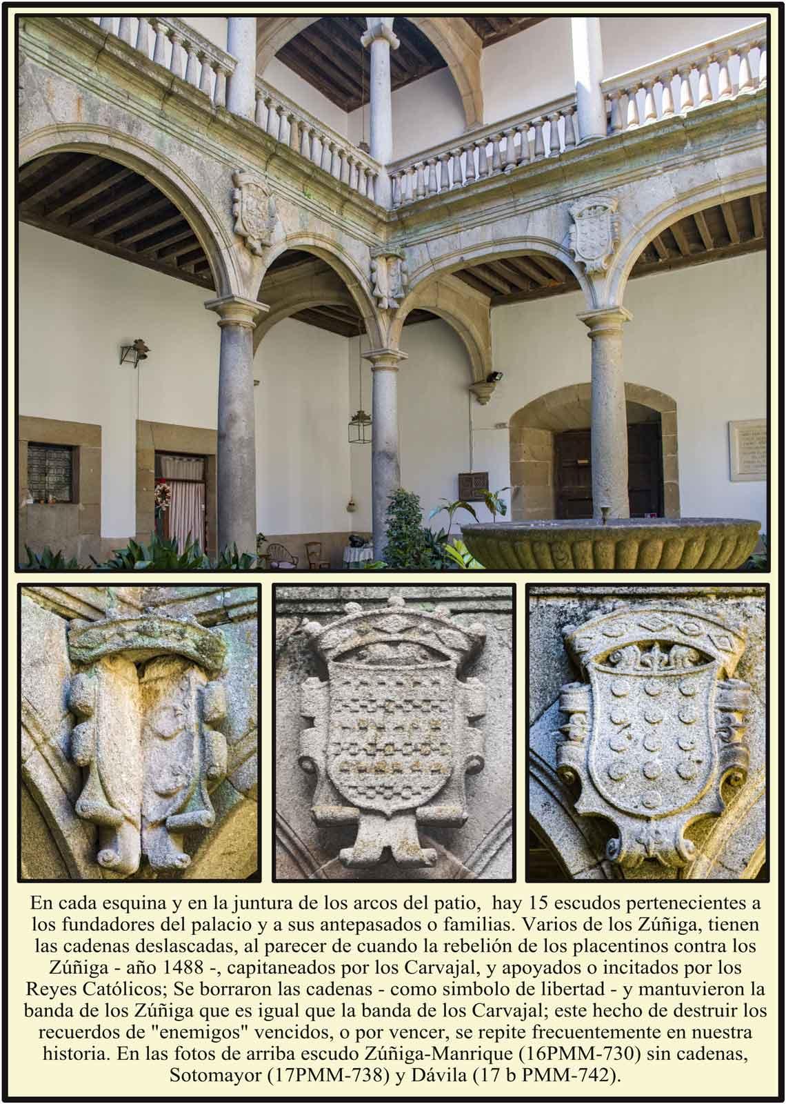 Patio del Palacio del Marqués de Mirabel con escudos
