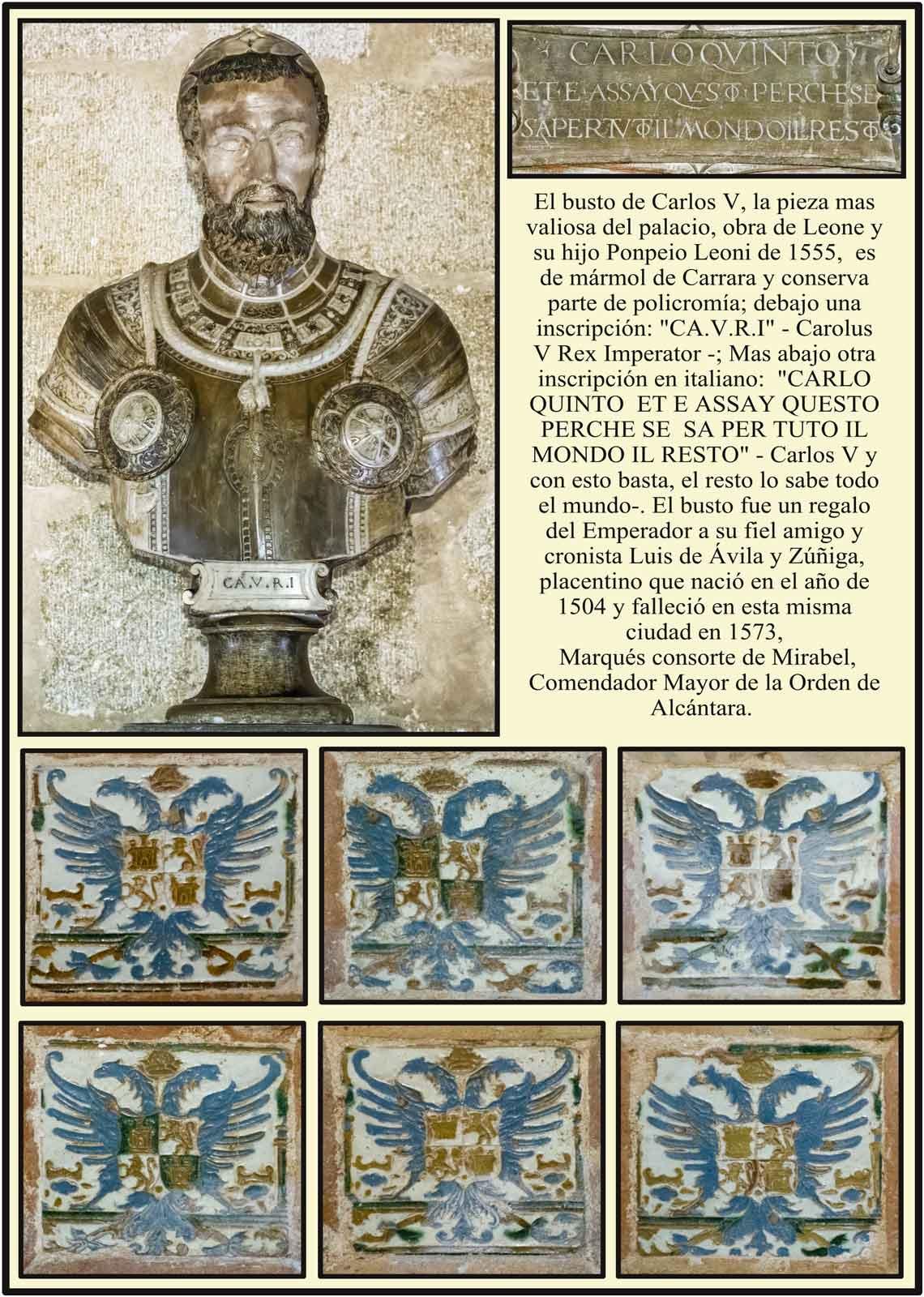 Busto de Carlos V por Leone y Pompeio Leoni en mármol de Carrara
