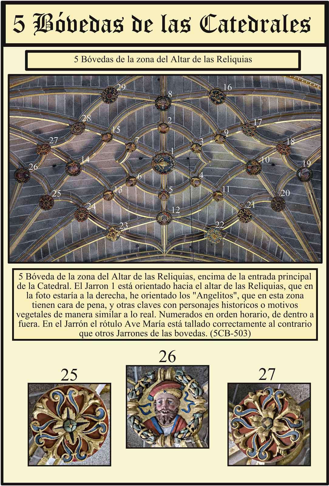 Boveda de cruceria de la capiilla de las Reliquias Catedral Dorada de Plasencia