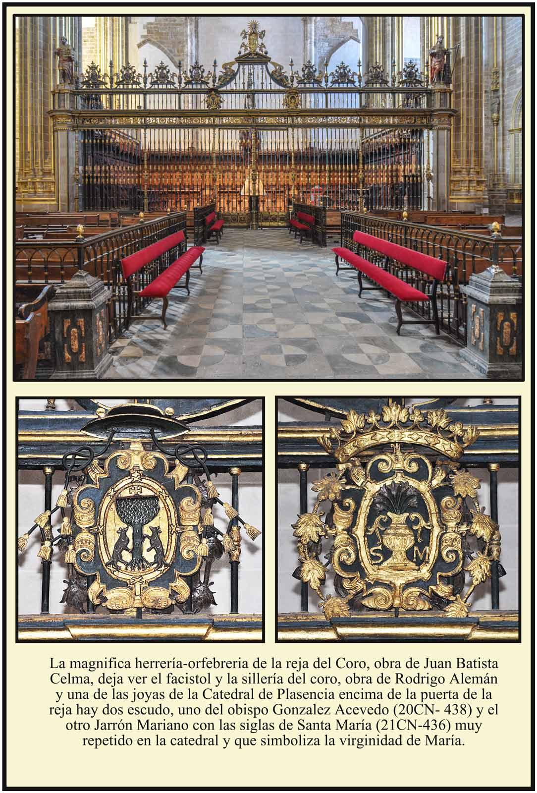 Catedral Dorada Plasencia Reja del coro de Juan Bautista Celma
