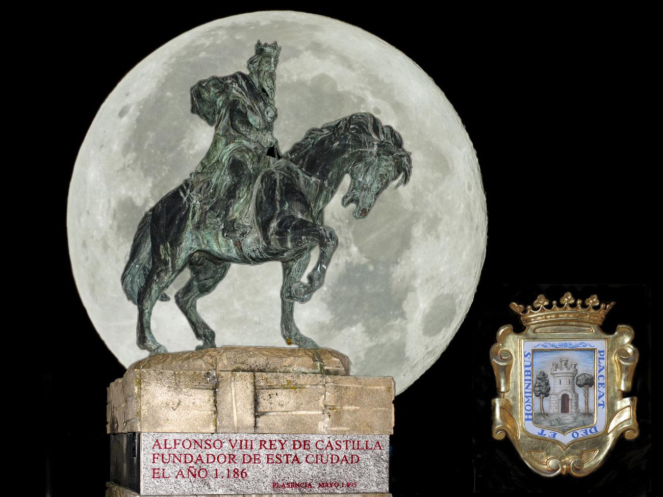 Alfonso VIII fundador de la Ciudad de Plasencia Escudo
