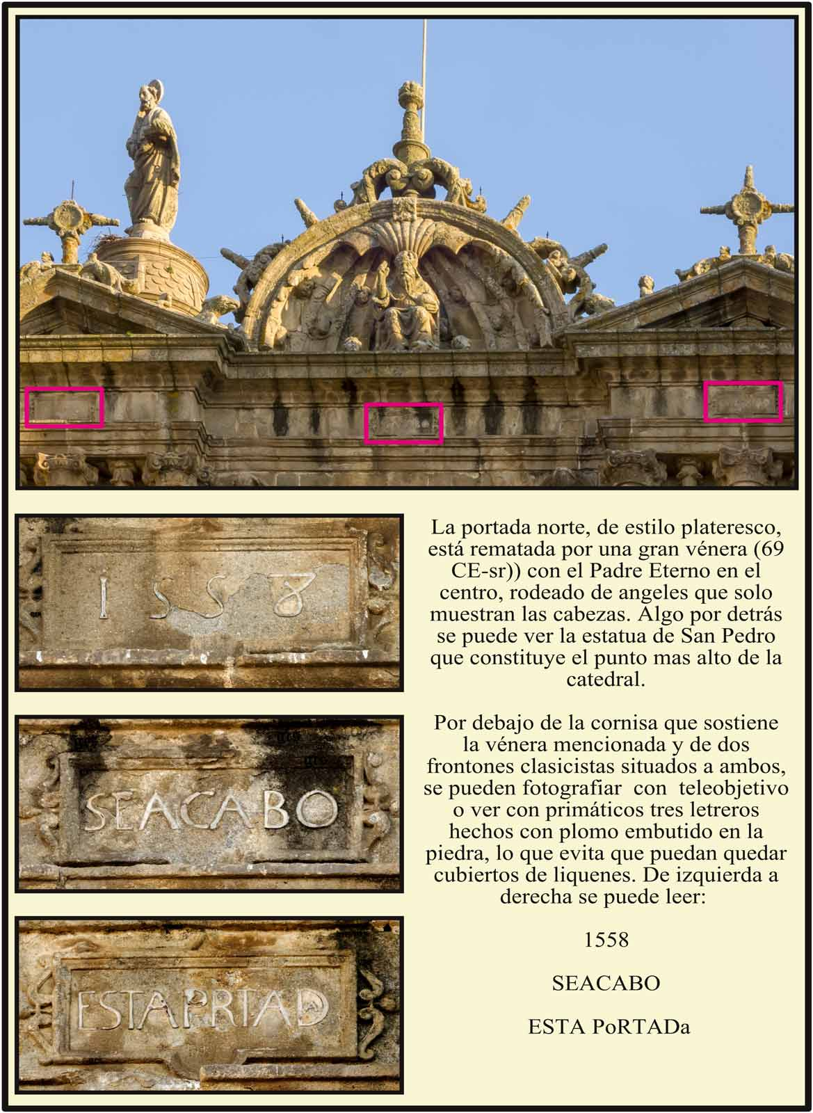 Catedral Nueva Plasencia Venera con el Padre Eterno en lo mas alto de la portada norte