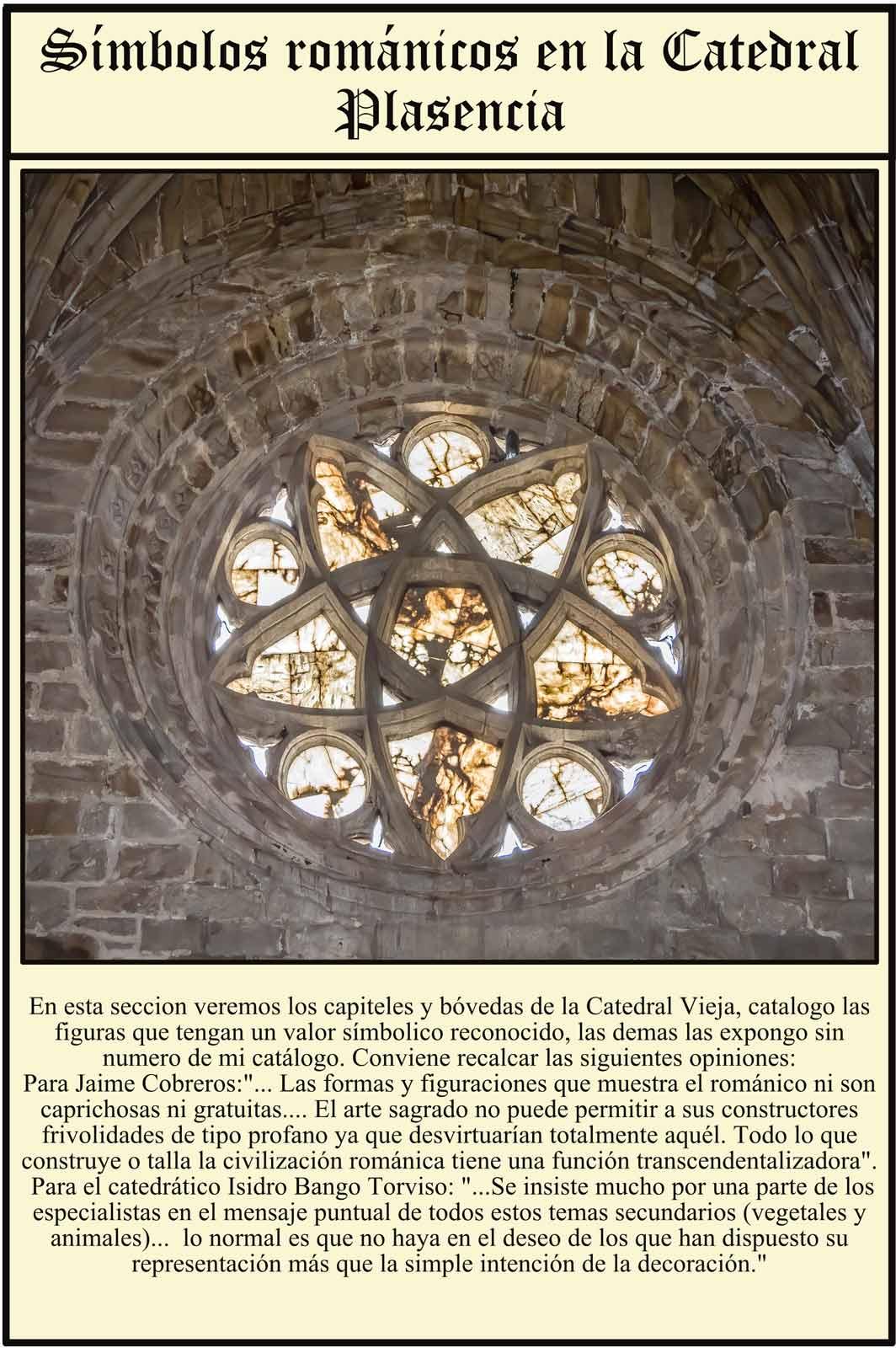 Plasencia Roseton románico vista desde el interior Catedral Vieja